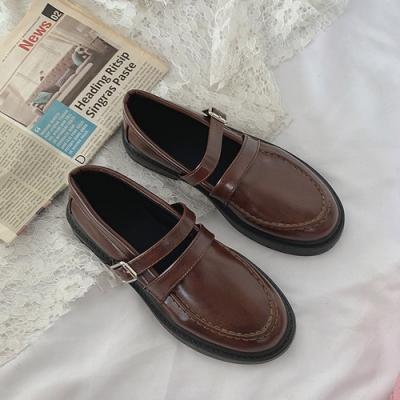 KEITH-WILL時尚鞋館 純淨簡約百搭英倫樂福鞋-棕