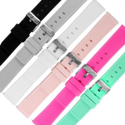 I AM / 18mm / 各種品牌通用 舒適耐用 輕便運動型 矽膠錶帶-多色