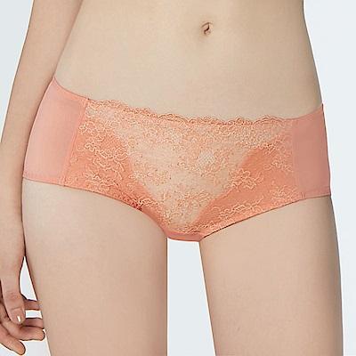 瑪登瑪朵 無鋼圈 低腰平口內褲(珊瑚橘)