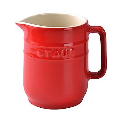法國Staub 陶瓷牛奶壺 紅色 250ml