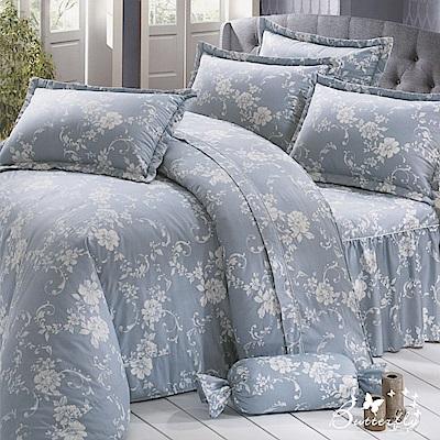 BUTTERFLY-台灣製造 40 支紗 100 %純棉-秀士棉-單人五件式床罩組-經典羅曼史