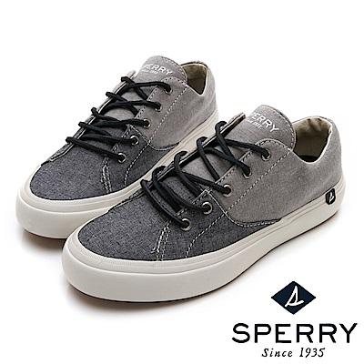 SPERRY 雙色拼接潮流帆布鞋(女)-黑灰