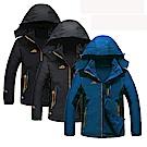 美國熊 保暖 抗汙 防水 輕量機能型兩件式加厚風衣