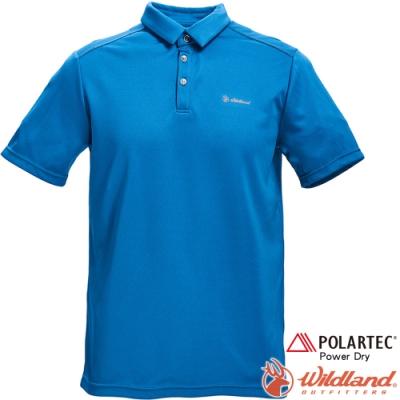 Wildland 荒野 P1602-46土耳其藍 男POLARTEC功能上衣