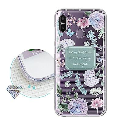 HTC U 12  Life 浪漫彩繪 水鑽空壓氣墊手機殼(幸福時刻)