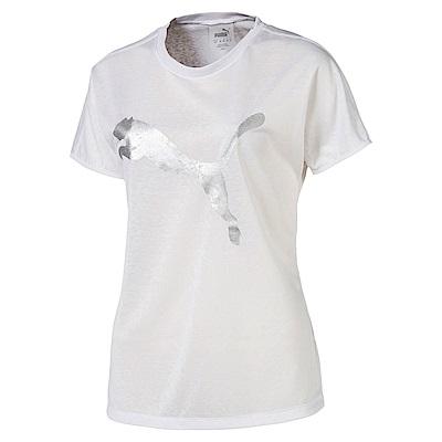 PUMA-女性訓練系列A.C.E.大跳豹短袖T恤-白色-歐規