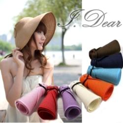 I.Dear-韓版抗UV可折疊式 時尚遮陽帽(6色)