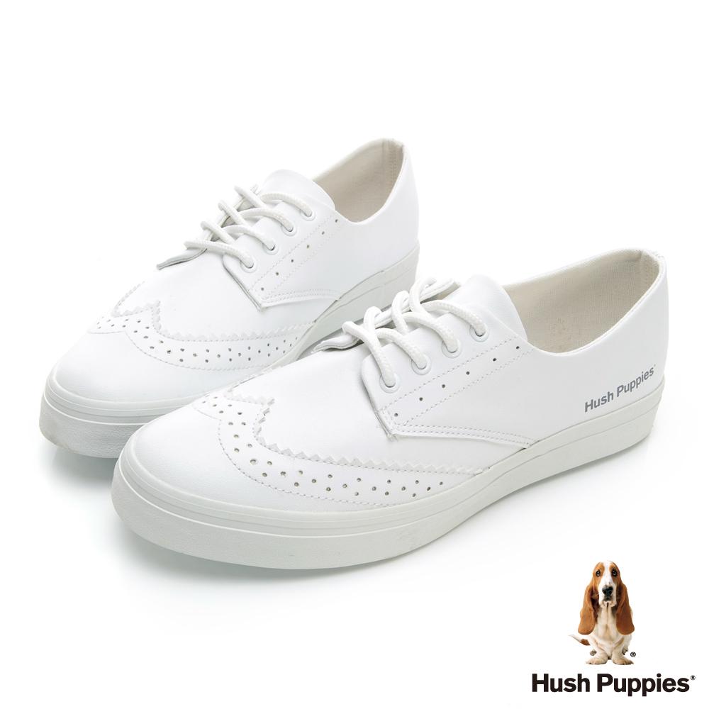 Hush Puppies 經典牛津休閒鞋-白色