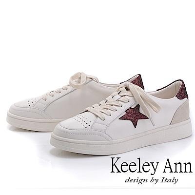 Keeley Ann我的日常生活 經典星星休閒滑板鞋(紅色-Ann系列)