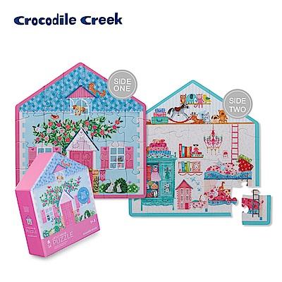 美國Crocodile Creek 童話小屋雙面學習拼圖-娃娃小屋