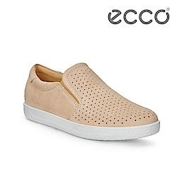 ECCO SOFT 1 W 極簡舒適套入式懶人鞋 女-裸粉色
