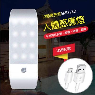 【挪威森林】LED紅外線人體感應燈/USB充電小夜燈_纖薄美型款