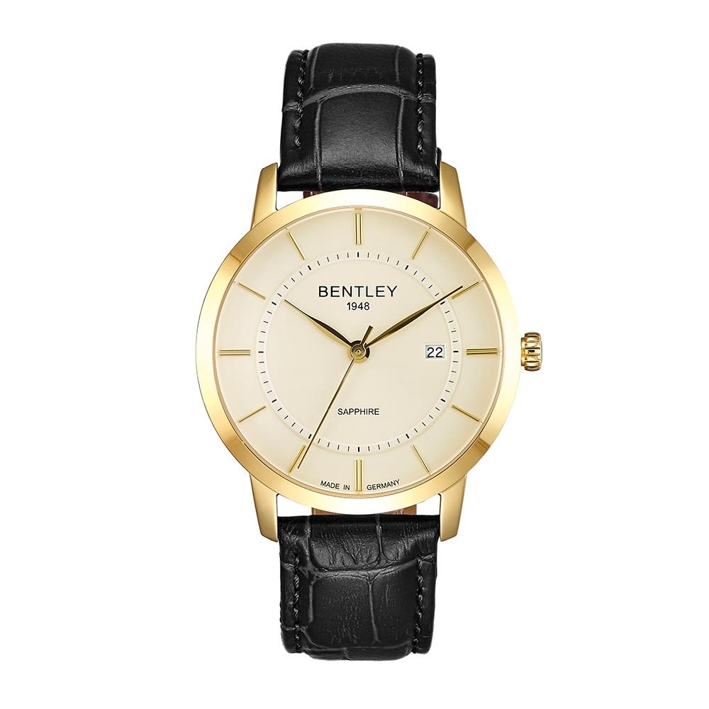 BENTLEY賓利 卓越系列 超越極限手錶-象牙色x黑/40mm