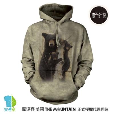 摩達客 美國The Mountain棕熊家族   環保藝術長袖連帽T恤