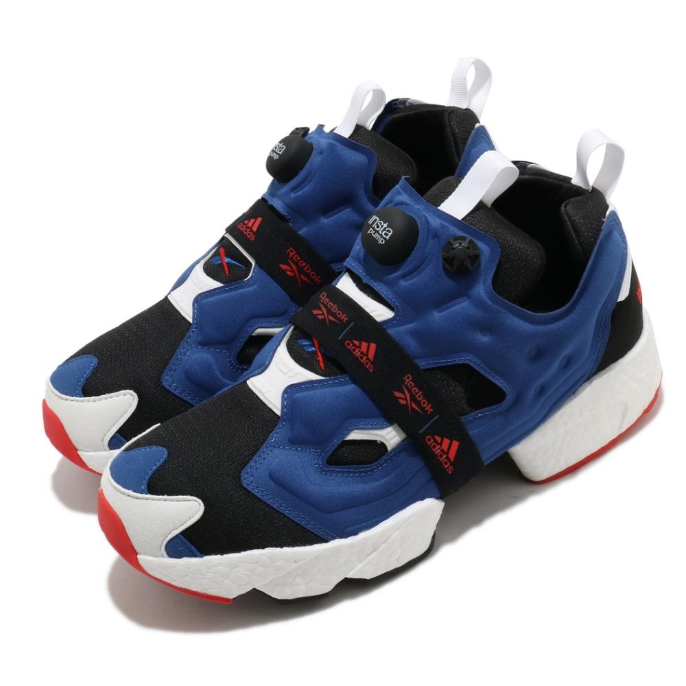 Reebok 休閒鞋 Instapump Fury 運動 男女鞋 Boost中底 舒適避震 充氣科技 情侶款 藍黑 FY8776