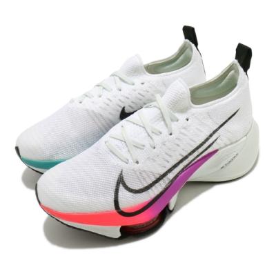 Nike 慢跑鞋 Tempo Next FK 女鞋 Zoom 跑鞋 避震 襪套 白 彩 CI9924100