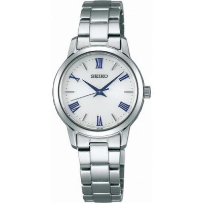 SEIKO 精工SPIRIT 太陽能羅馬時標時尚腕錶-銀(STPX047J)