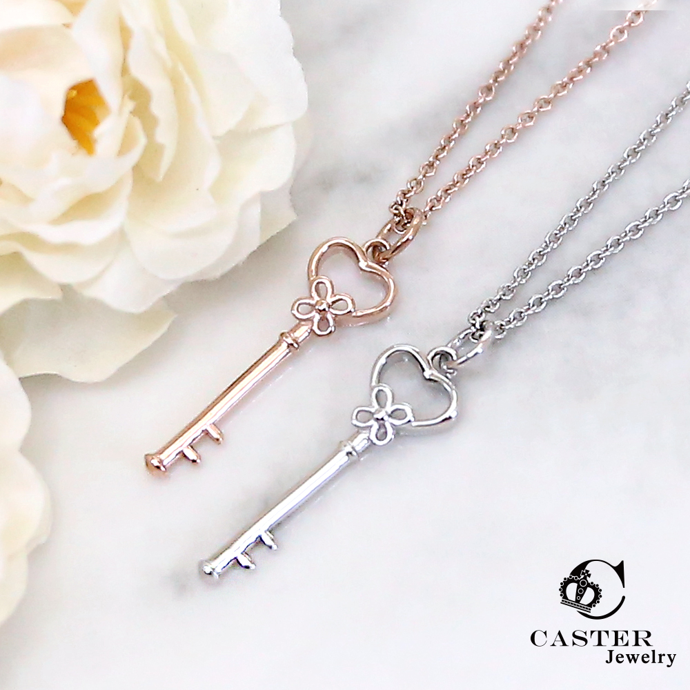 日本 凱斯特 CASTER 愛麗絲的入口 玫瑰金項鍊 防抗過敏 SUS316L頂級不鏽鋼飾