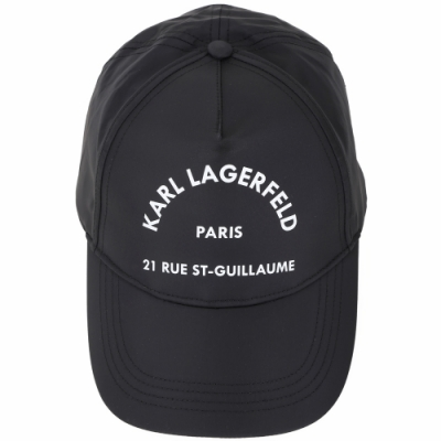 KARL LAGERFELD Rue St. Guillaume 地址LOGO棒球帽(黑色)