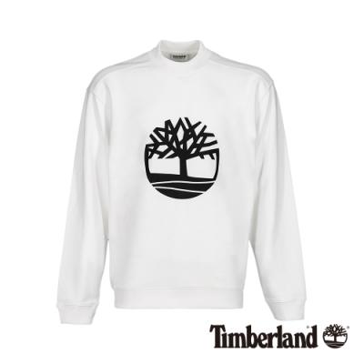 Timberland 男款白色長袖圓領衛衣上衣|A2198