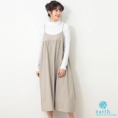 earth music 細肩背心洋裝+素面高領長袖上衣