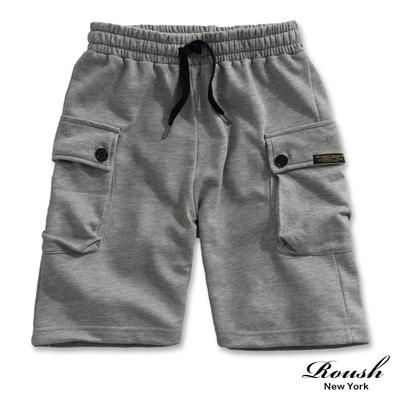 Roush 日系復古軍事風大口袋工裝短棉褲(3色)