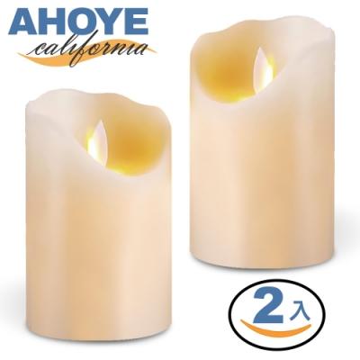 Ahoye 逼真LED蠟燭燈 2入組 (大根-7.5*15cm)