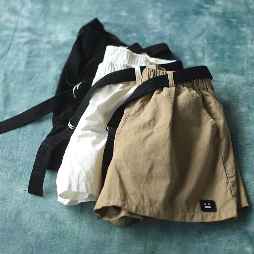 純棉刺繡貼布百搭熱褲時尚褲子三色-設計所在