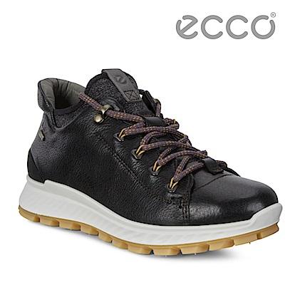 ECCO EXOSTRIKE 突破極限低筒運動戶外靴 女-黑