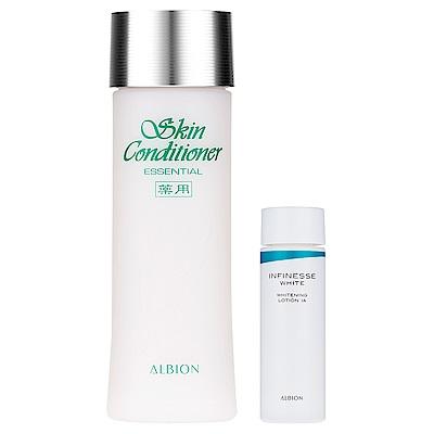 ALBION艾倫比亞 健康化妝水N330ml+賦白彈力活化液IA (30ml)(即期良)