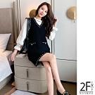 2F韓衣-韓系V領背心裙-2色-F