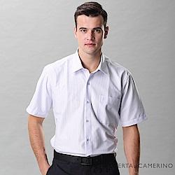 ROBERTA諾貝達 台灣製 吸濕排汗 清爽舒適 條紋短袖襯衫 藍白