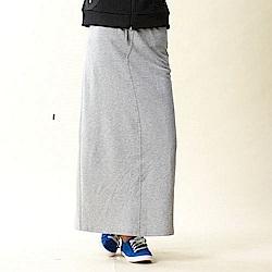 【TOP GIRL】休閒棉針織長裙-淺麻灰