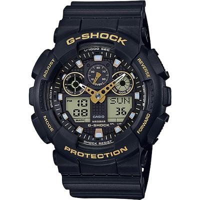 G-SHOCK 新系列街頭時尚雙顯腕錶-金(GA- 100 GBX- 1 A 9 )/ 51 mm
