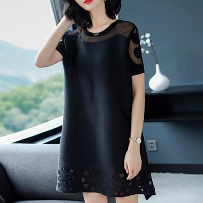 【KEITH-WILL】(預購) 超有型都會魅力三宅壓折洋裝-4色