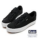 Keds TRIPLE CROSS 彈性鞋帶厚底休閒鞋-黑色