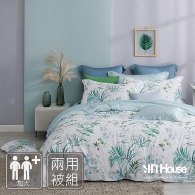 IN-HOUSE-漫步棕櫚-400織紗天絲棉兩用被床包組(雙人)