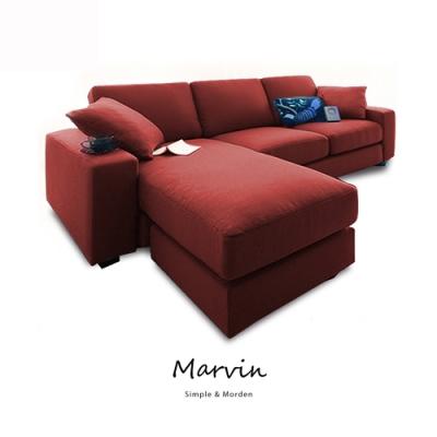 obis MARVIN自然風獨立筒L型布沙發(三色)