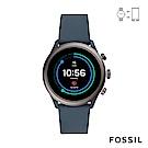 FOSSIL SPORT 運動智能錶-43MM 灰藍色矽膠
