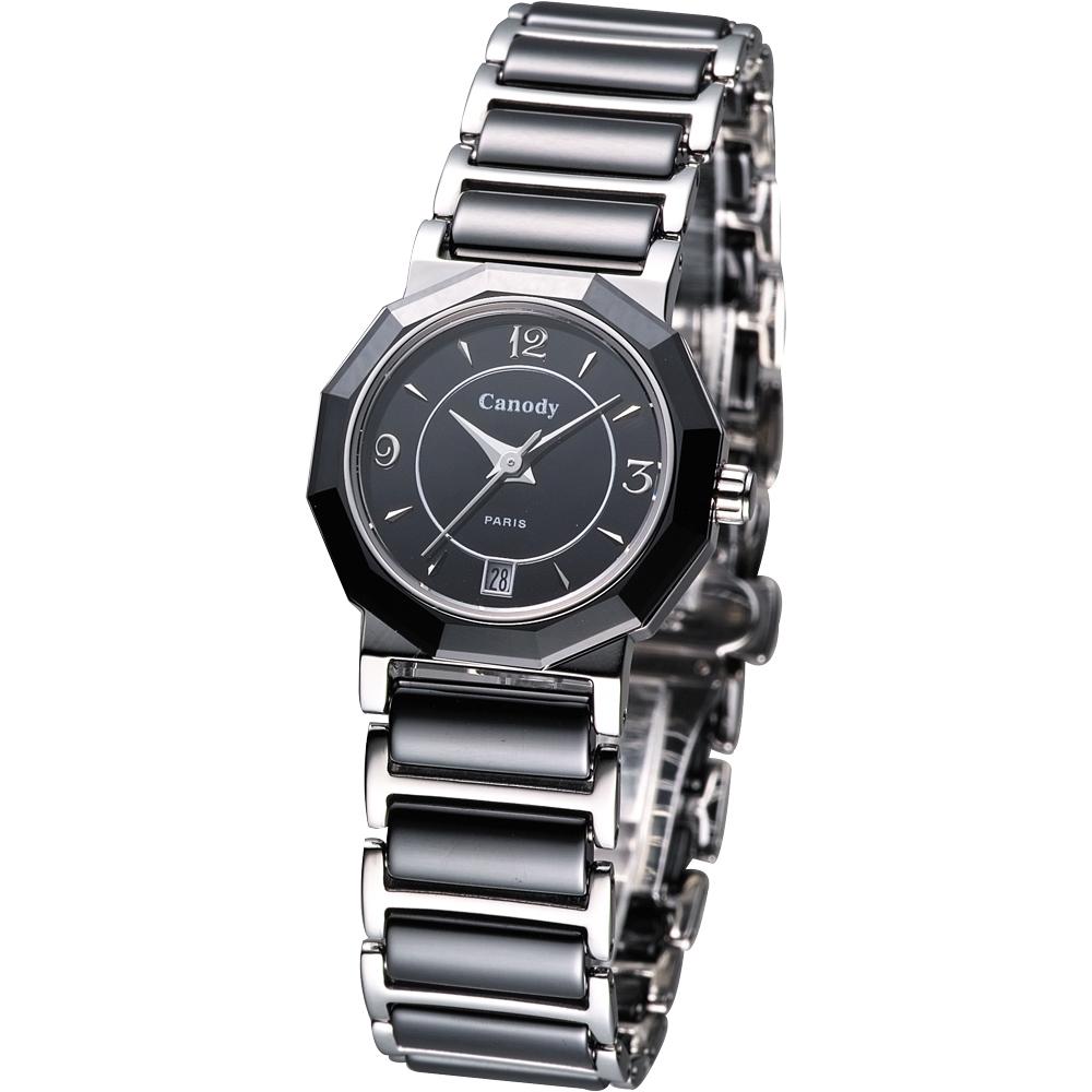 Canody 珍愛時光陶瓷腕錶(CL8810-A)-黑/24mm @ Y!購物