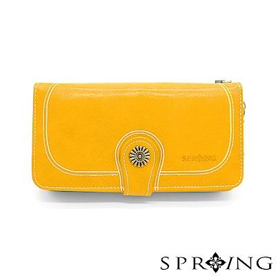 SPRING-日光系列-拉鍊式長夾-太陽黃