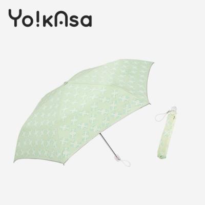 Yo!kAsa 防曬日系花漾手開折傘(淺綠)