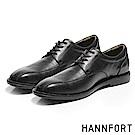 HANNFORT PERPETUAL真皮動能氣墊德比鞋-紳士黑