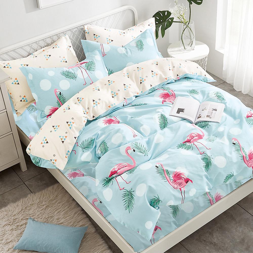 Ania Casa韓風烈鳥 雙人四件式 100%精梳棉 台灣製 床包被套純棉四件組