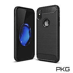 PKG APPLE IPhone X/XS 抗震防摔手機殼-碳纖維紋系列
