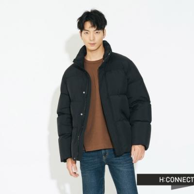 H:CONNECT 韓國品牌 男裝 - 立領保暖羽絨外套 - 黑