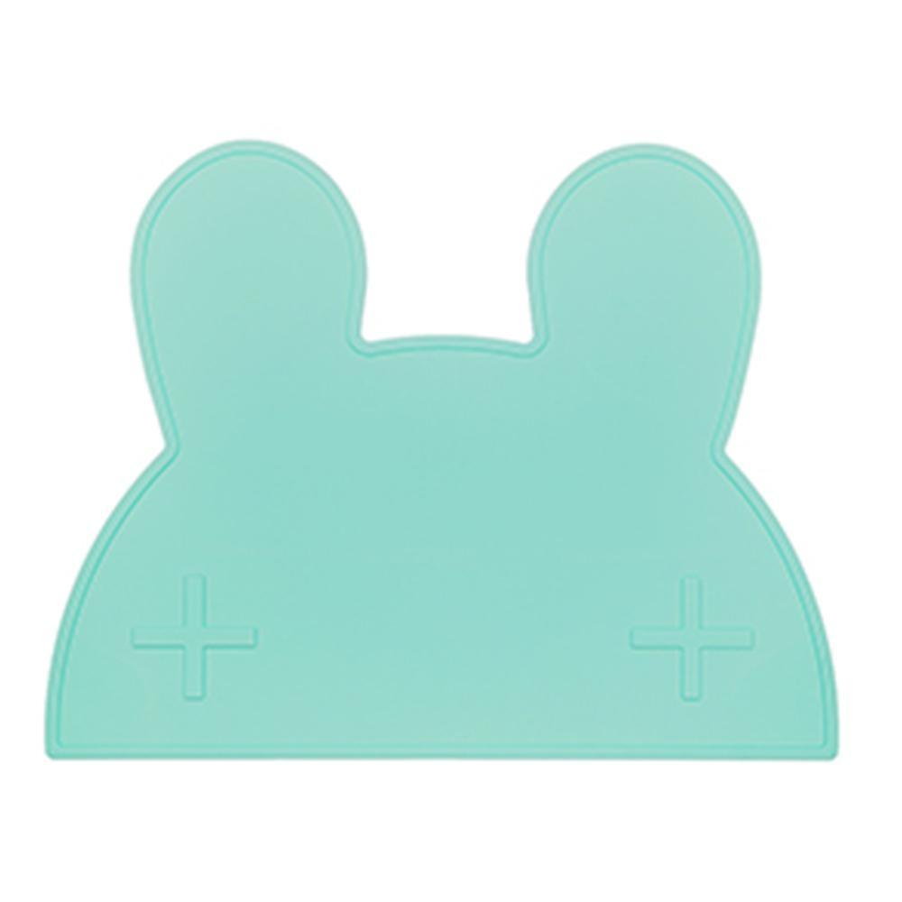 澳洲We Might Be Tiny 矽膠防滑餐墊兔寶寶-薄荷綠