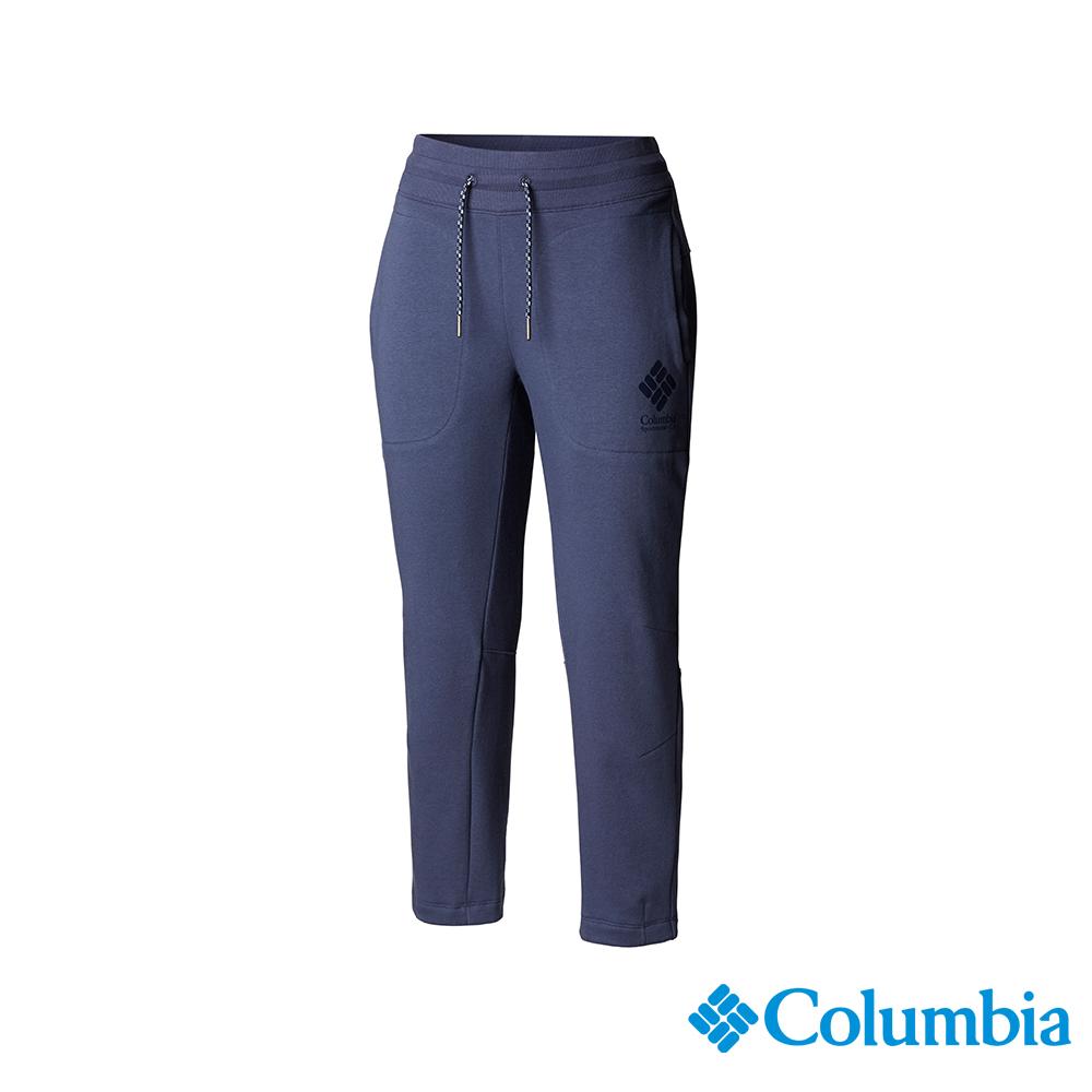 Columbia 哥倫比亞 女款-UPF50 棉質七分褲-深藍 UAR25620NY