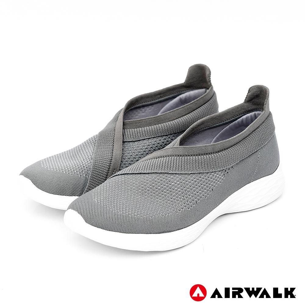 【AIRWALK】波浪編織健走鞋-灰色