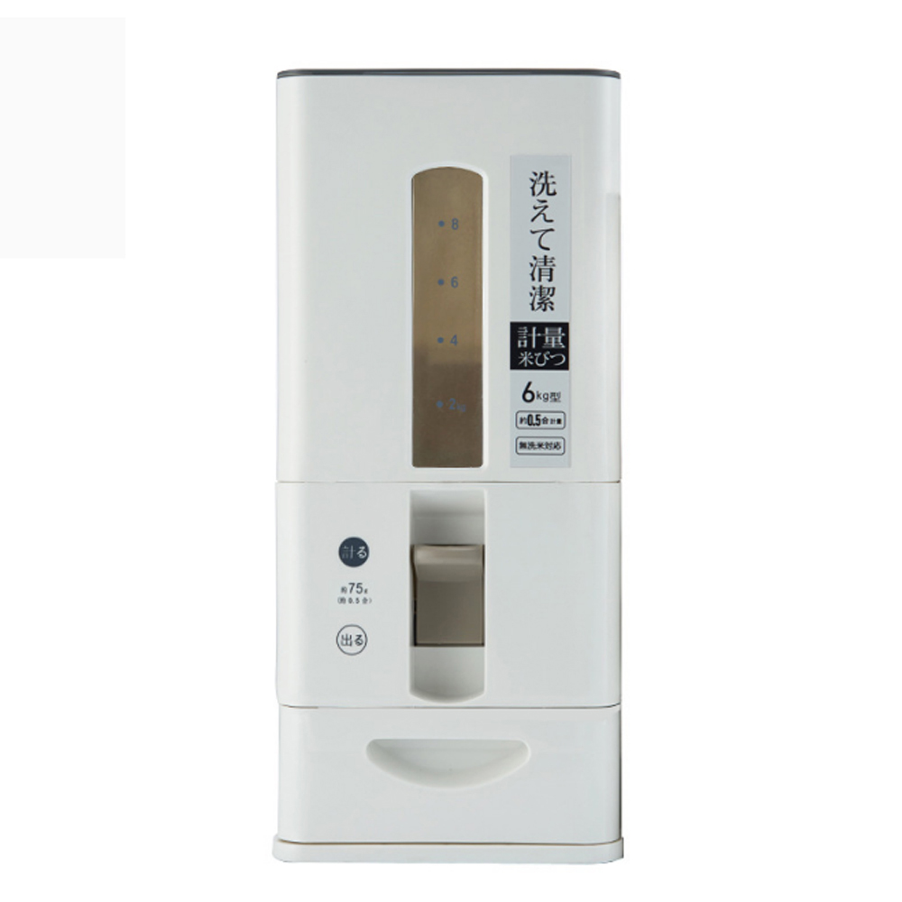 PUSH!居家生活用品塑膠計量米桶儲米桶雜糧儲存6KG I79